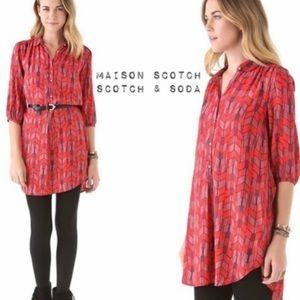 Madison Scotch Shirt Dress Tunic Small
